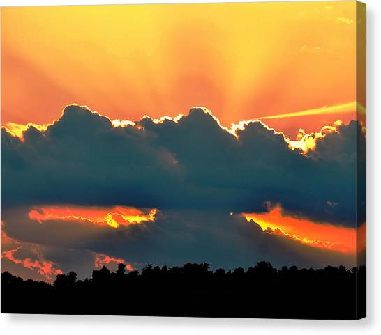 Sunset Over Southern Ohio Canvas Print