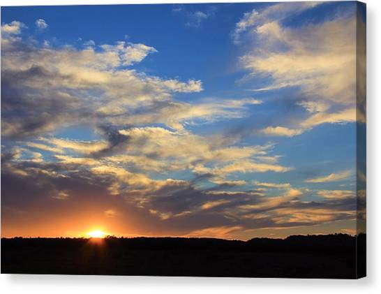 Sunset Over Texas Canvas Print