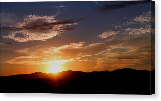 Sunset Over The Blue Ridge Canvas Print