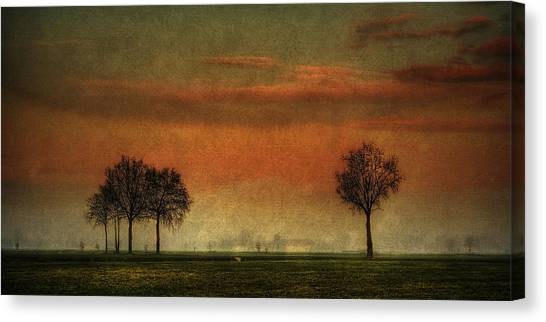 Sunset Over The Country Canvas Print