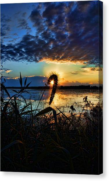 Sunset Over The Refuge Canvas Print
