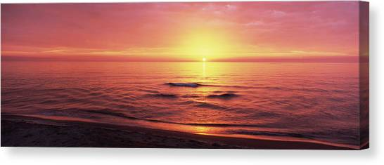 Venice Beach Canvas Print - Sunset Over The Sea, Venice Beach by Panoramic Images