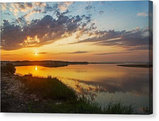 Sunset Over The Sucker River Canvas Print