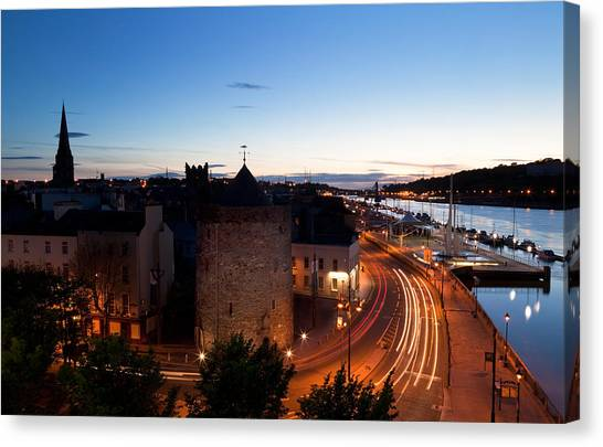 Waterford Canvas Print - Sunset Over Waterford City, County by Panoramic Images