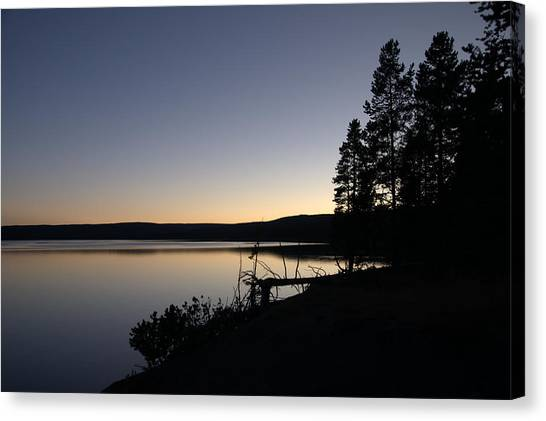Sunset Over Yellowstone Lake Canvas Print