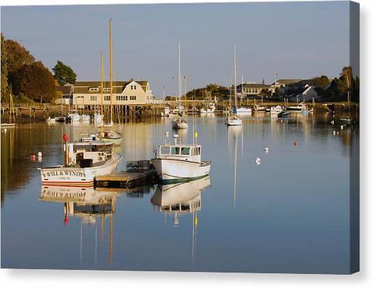 Sunset Over York Harbor Canvas Print