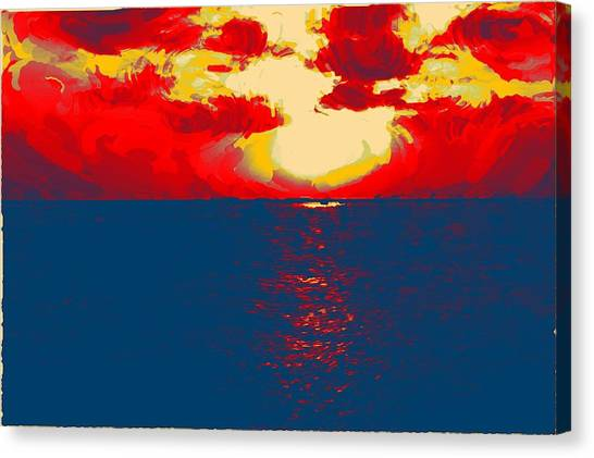 Sunset Paradise Canvas Print by Peter Waters