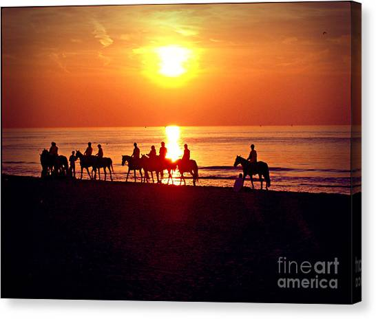 Sunset Past Time Canvas Print