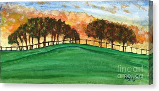 Sunset Pasture Canvas Print