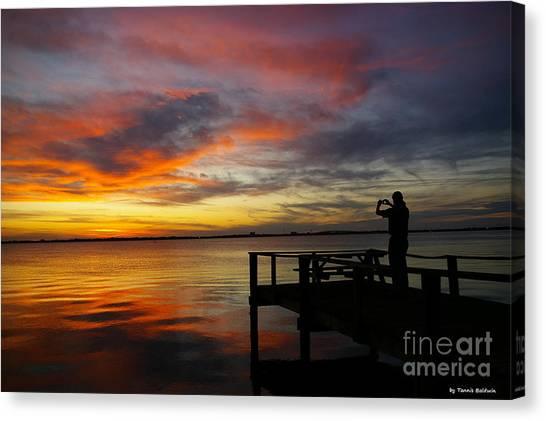 Sunset Photographer Canvas Print