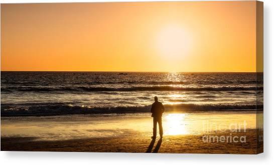 Sunset Pondering Canvas Print