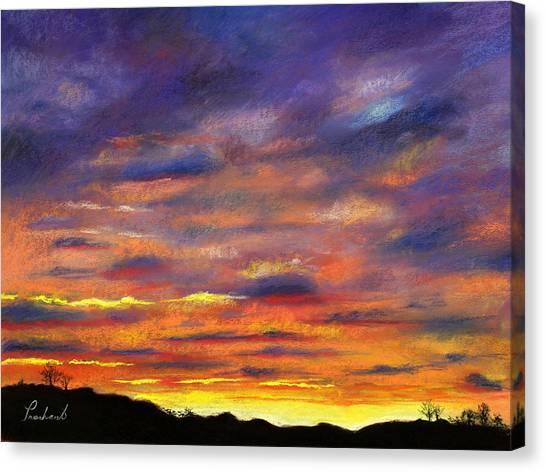 Sunset Canvas Print by Prashant Shah