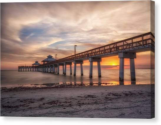 Sunset Horizon Canvas Print - Sunset by Presilla