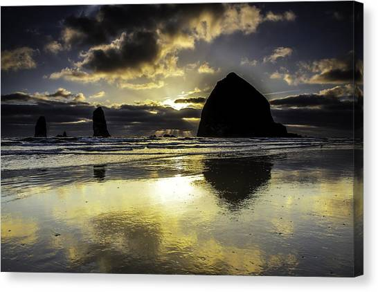 Sunset Reflected Canvas Print