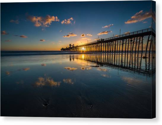 Long Exposure Canvas Print - Sunset Reflections by Larry Marshall