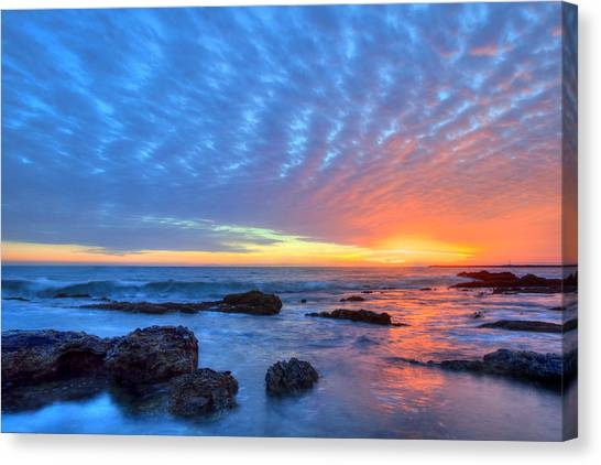 Sunset Reflections Newport Beach Canvas Print