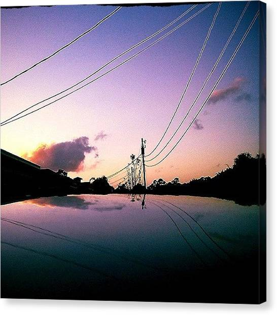 Saturn Canvas Print - #sunset, #reflection,#sky, #clouds by Melissa Hardecker