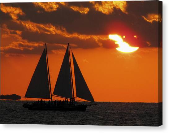Key West Sunset Sail 3 Canvas Print