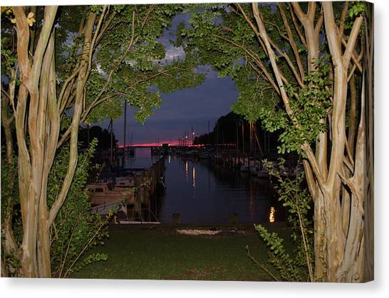 Sunset Sailboat Frame Canvas Print