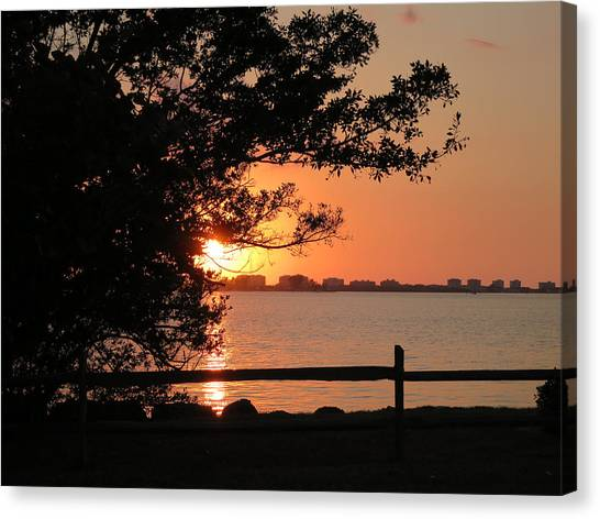 Sunset On Sarasota Harbor Canvas Print