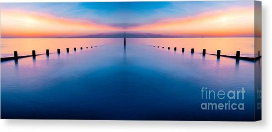 Wind Farms Canvas Print - Sunset Seascape IIi by Adrian Evans