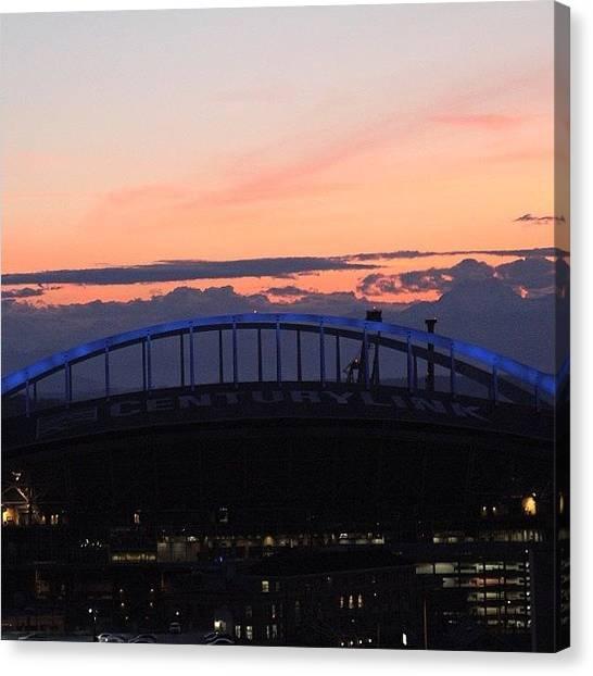 Seattle Seahawks Canvas Print - #sunset #seattle# by Kelly Hasenoehrl