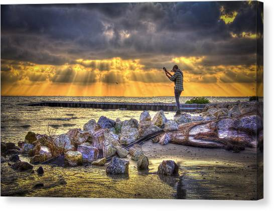 Tampa Bay Rays Canvas Print - Sunset Serenade  by Marvin Spates