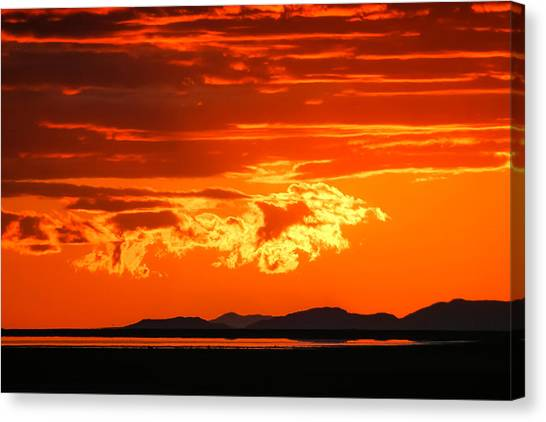 Sunset Sky Fire Canvas Print by Kirk Strickland