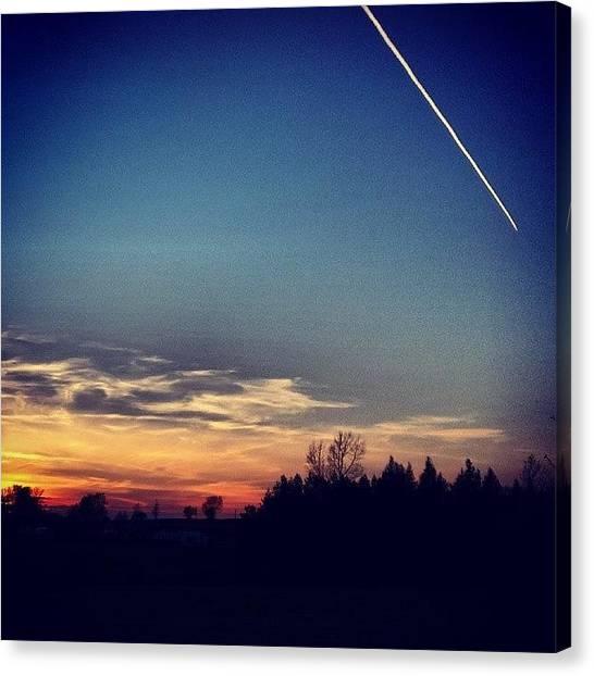Golfers Canvas Print - #sunset #skyporn #sky_captures #sky by David Cockell