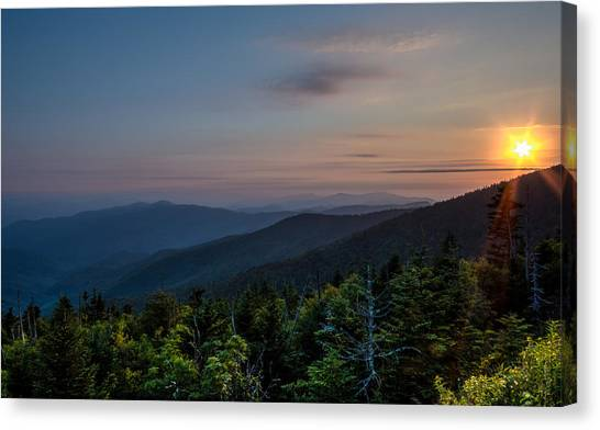 Sunset Smokey Mountains  Canvas Print