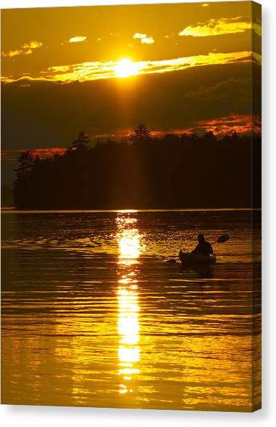 Sunset Solitude  Canvas Print
