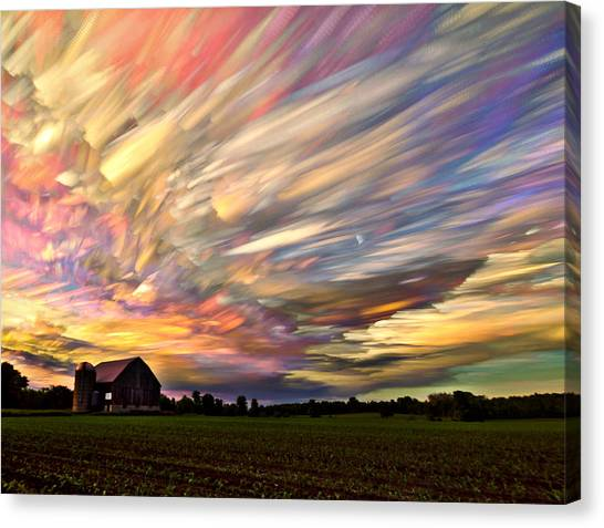 Corn Field Canvas Print - Sunset Spectrum by Matt Molloy