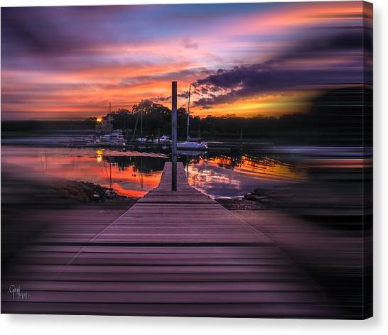 Sunset Spin Canvas Print