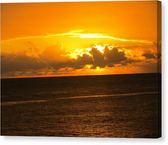 Sunset  Canvas Print by Stephanie Francis