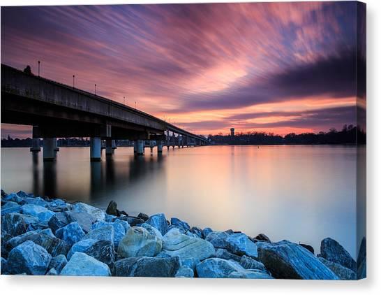 Severn River Canvas Print - Sunset Streaks by Jennifer Casey