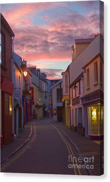Sunset Street Canvas Print