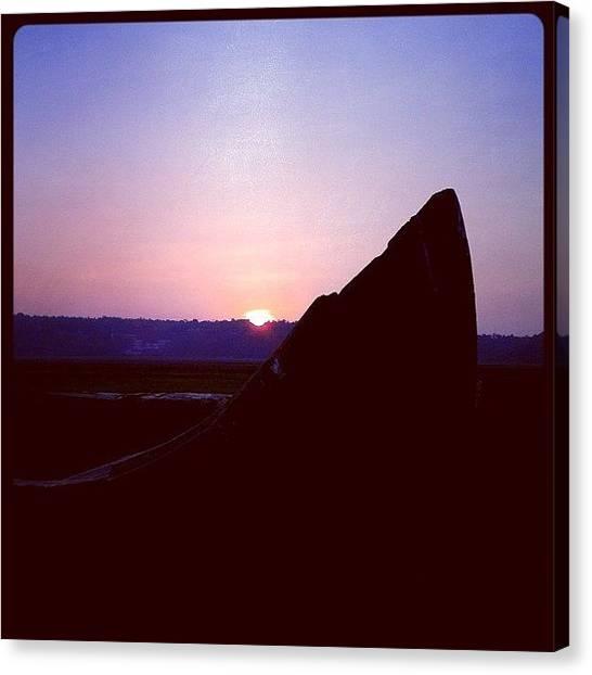 Lake Sunsets Canvas Print - Sunset #sun #sunset #sky #skyporn by Aron Muralidhar
