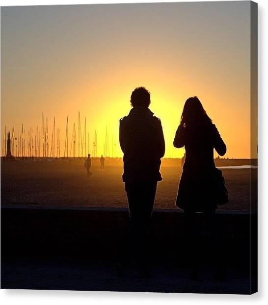 Beach Sunsets Canvas Print - #sunset #sun #tuscany #sky #silhouette by Mariana Mincu