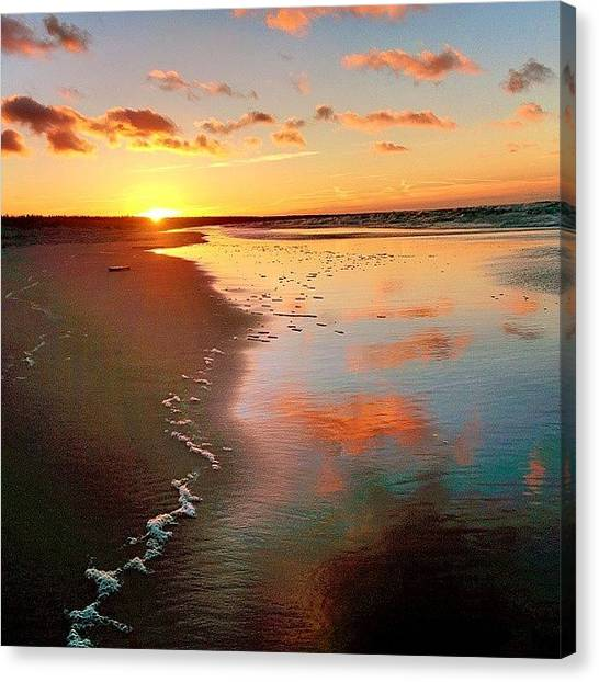 Sunset Horizon Canvas Print - #sunset #sunrise #sun #tagsforlikes by Raimond Klavins