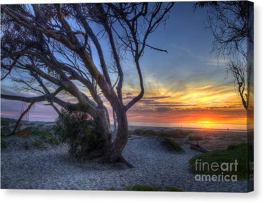 Sunset Swing Canvas Print