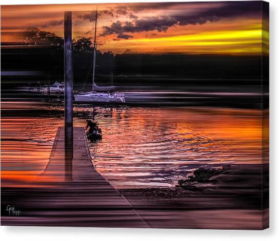 Sunset Swirl Canvas Print