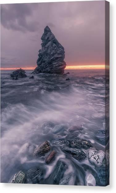 Sunset Horizon Canvas Print - Sunset Textures by Juan Facal Photography