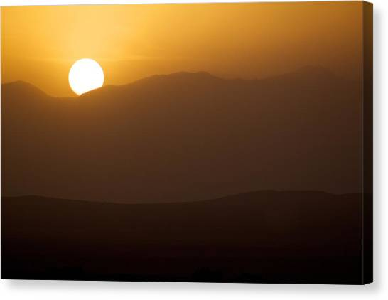 Sunset The Ruby Mountains Wells Nevada Canvas Print