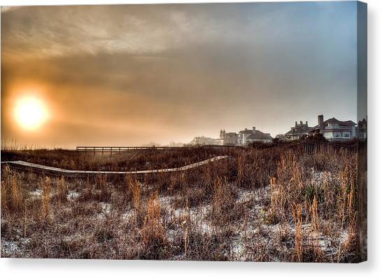 Sunset Through The Fog Canvas Print