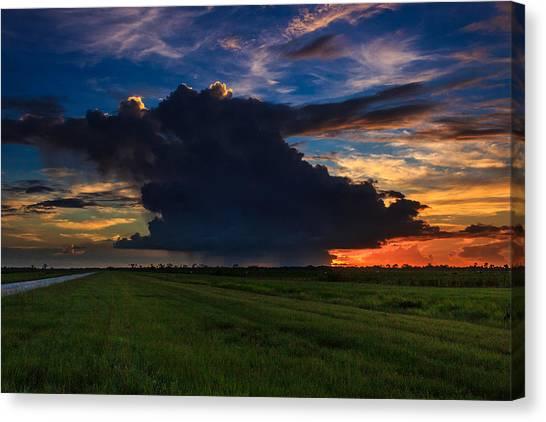 Sunset Through The Rain Canvas Print