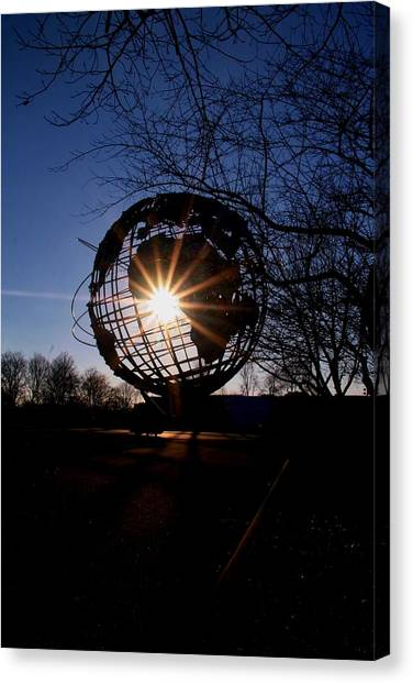 Sunset Through The Unisphere Canvas Print