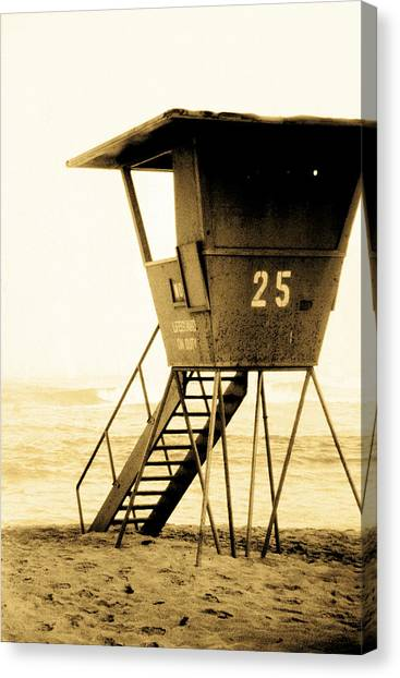 Lifeguard Canvas Print - Sunset Tower 25 by Sean Davey