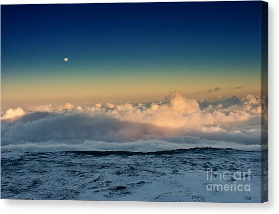 Sunset Very High Canvas Print by Karl Voss