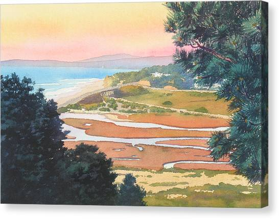 Planets Canvas Print - Sunset View From Torrey Pines by Mary Helmreich