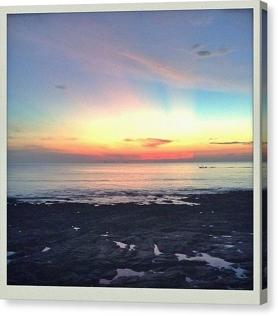 Red Rock Canvas Print - Sunset Views by Candace Fowler